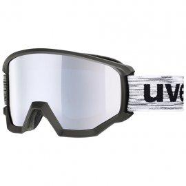 Lyžiarske okuliare UVEX Athletic FM, black mat mirror silver, (S3)