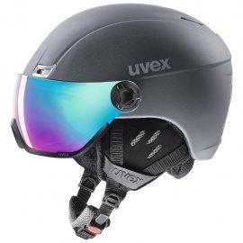 UVEX hlmt 400 visor style, titanium mat