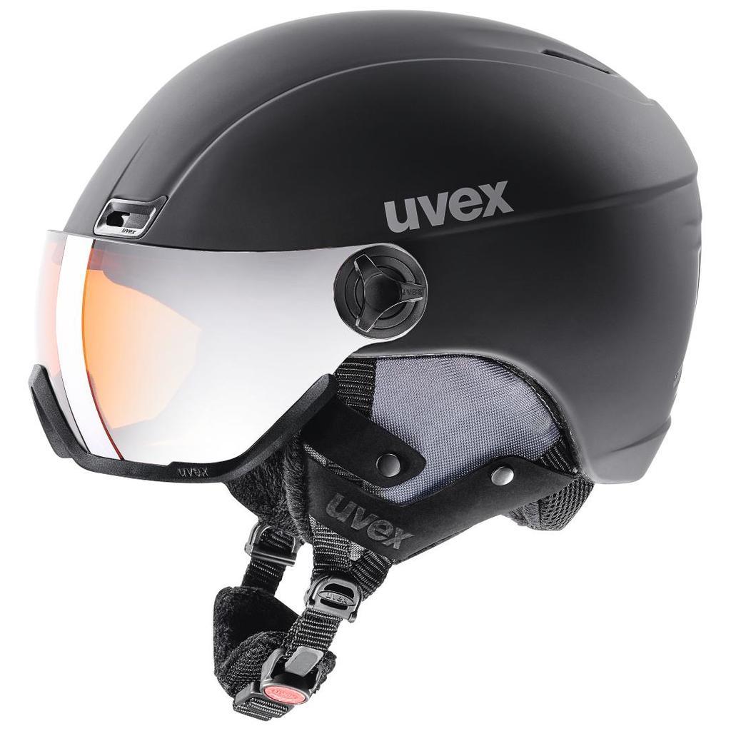 6409c37c9 Lyžiarska prilba UVEX Hlmt 400 visor style, black mat | kubicasport.eu