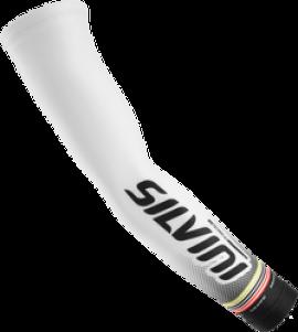 Návleky na ruky SILVINI TUBO-TEAM UA846, biele, L