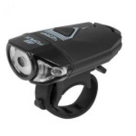 Predné svetlo FORCE CASS 300LM, USB, čierne