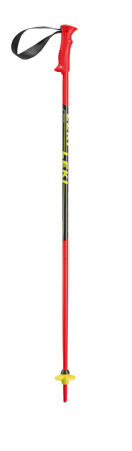 LEKI Racing Kids, neonred/neonyellow-black-white,