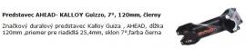 Predstavec AHEAD- KALLOY Guizzo, 7°, 120mm, čierny, riadidlá 25,4 mm
