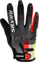Dámske cyklistické rukavice TEAM WA851, black, M
