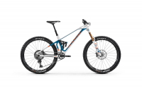 Mondraker Superfoxy Carbon R 2020, white/petrol/fox orange