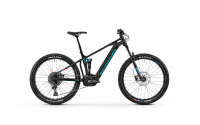Mondraker Chaser+ 2020, black/light blue/flame red