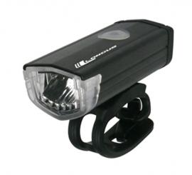 Svetlo predné,  3 Watt, LED, 3 F, USB 200 Lm, čierna