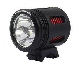 Svetlo predné FLASH 3000 4F + LI-ION batéria, čierne