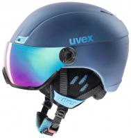 UVEX hlmt 400 visor style, navyblue mat