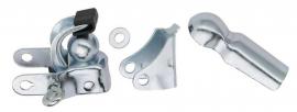 Spojovaci mech. pre montáž vrátane podpery, strieborný