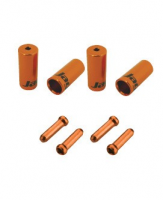 CHA094-NJ,sada koncoviek, 4mm, oranžové