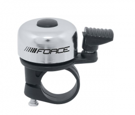 Zvonček FORCE MINI Fe/plast 22,2mm paličkový, strieborný