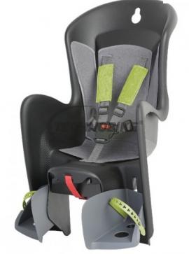 Detská sedačka POLISPORT BILBY, 5 bodová, na nosič, šedá/šedá