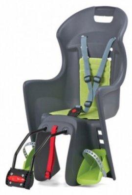 Detská sedačka POLISPORT BOODIE, 3 bodová, šedá/zelená