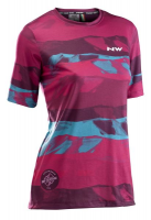 Northwave Xtrail Wmn Jrs S/S Mtb, beetroot/green