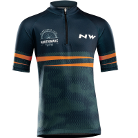 Northwave Origin Junior Jersey Short Sleeves, blue/orange