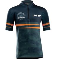 Northwave Origin Junior Jersey Short Sleeve, blue/orange