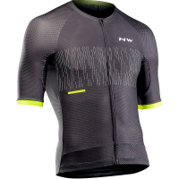 Northwave Storm Air Jersey Short Sleeves, anthracite/yellow fluo