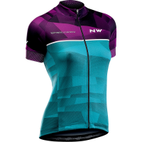 Northwave Origin Woman Jersey Short Sleeves, violet/green