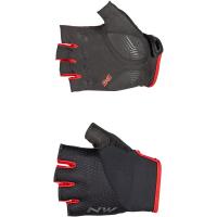 Northwave Fast Short Finger Glove, black/red