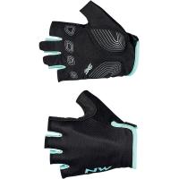 Northwave Active Woman Short Finger Glove, black/light blue