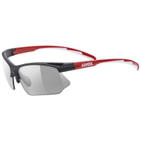 UVEX sportstyle 802 v, black red, (S1-S3)