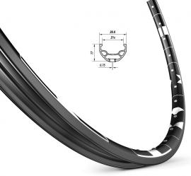 Ráf KARMA DISC 27,5 32D+vložky čierny