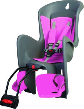 Detská sedačka BILBY, 5 bodová, na sedl.trubku, šedá/ružová