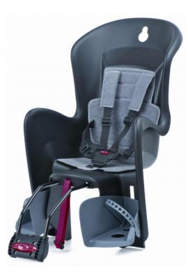 Detská sedačka zadná Bilby na sedl.trubku čierno/sivá
