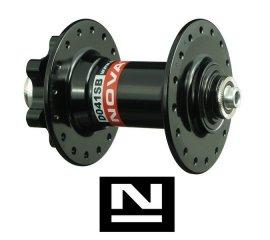Náboj NOVATEC D041SB, predný, 32-dierový, čierny