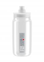 Fľaša Elite FLY, transparentná šedé logo, 550 ml