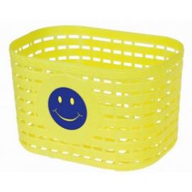 Detský košík, plast, detský, žltý motív smajlík