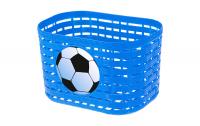 Košík plastový na riadidlá, detský, modrý