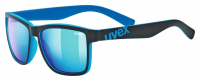 UVEX LGL 39, black mat blue/mirror blue, S3