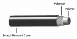 Hydraulická hadica ALLIGATOR HK-UL030, čierna, cena za  1 m