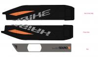 Dekor E-Bike Sduro,p.kryt akumulátoru 2016, oranžová+šedá