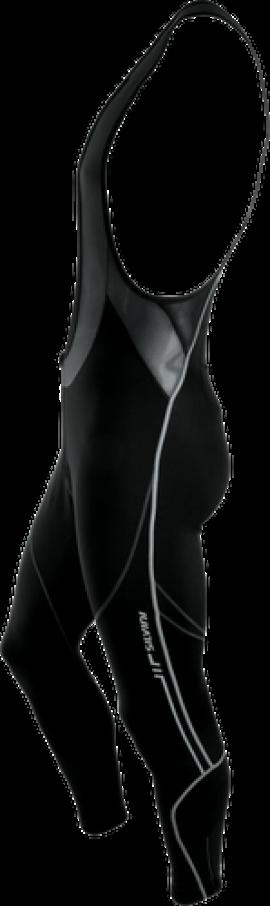 Elastické nohavice SILVINI MOVENZA TOP MP96, s trakmi, čierne