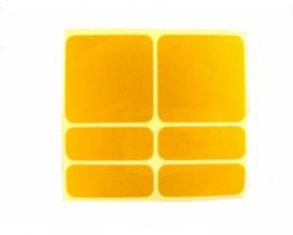 Nálepky SHAMANRACING, reflexné, žlté, 6KS