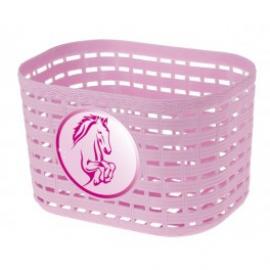 Detský košík, kôň, ružový