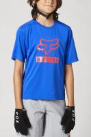 Fox Yth Ranger Ss Jersey, blue