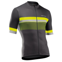 Northwave Origin Jersey Short Sleeve, anthra/yellow fluo