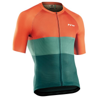 Northwave Blade Air Jersey Short Sleeve, green/siena orange