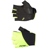 Northwave Fast Grip Short Finger Glove, yellow fluo/red