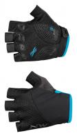 Northwave Fast Woman Short Finger Glove, black/light blue