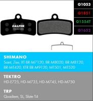 Brzdové platničky GALFER FD426 - Shimano/Tektro
