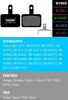 Brzdové platničky GALFER FD293 - Shimano/Tektro