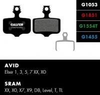 Brzdové platničky GALFER FD427 - Avid/Sram