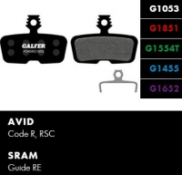 Brzdové platničky GALFER FD455 - Avid/Sram