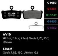 Brzdové platničky GALFER FD459 - Avid/Sram