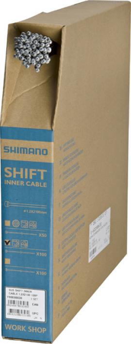 Radiace lanko SHIMANO, nerez, 2000x1,2 mm, cena za 1 ks